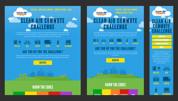 Responsive Design - Clean Air Commute Challenge