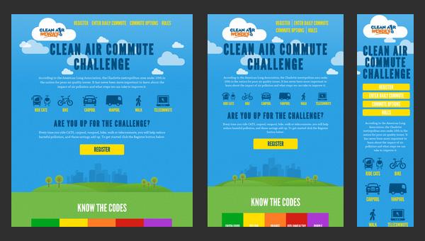 Responsive Design - Clean Air Commute Challenge