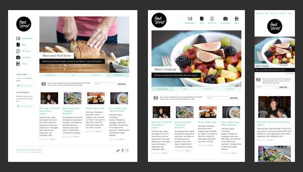 Responsive Design - Food Sense