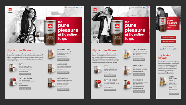 Responsive Design - Illy Issimo