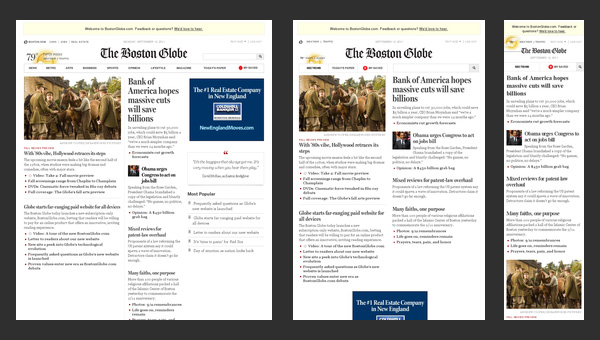 Responsive Design - The Boston Globe