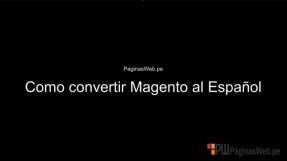 Traducción Magento al Español