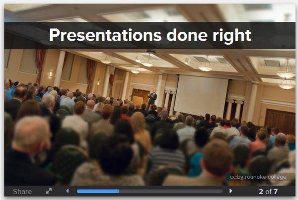 Crear presentaciones con Presentate