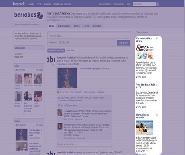 Facebook aumentó sus clicks en los anuncios publicitarios.
