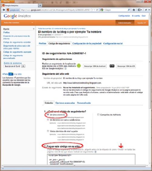 codigo de seguimiento para instalar google analytics