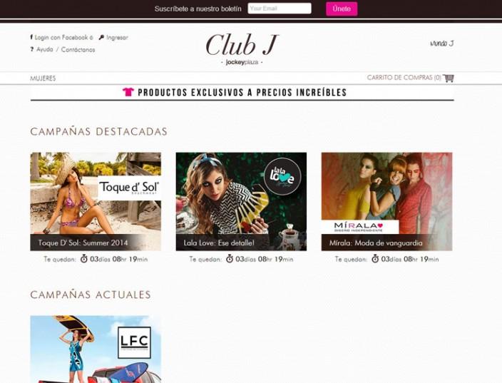 tiendas online peru - ClubJ