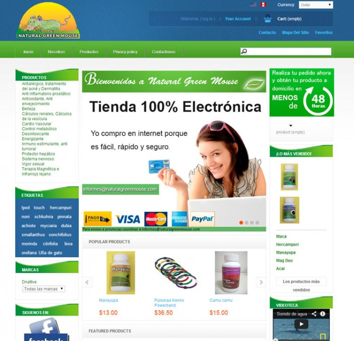 tiendas online peru - Natural-green-mouse