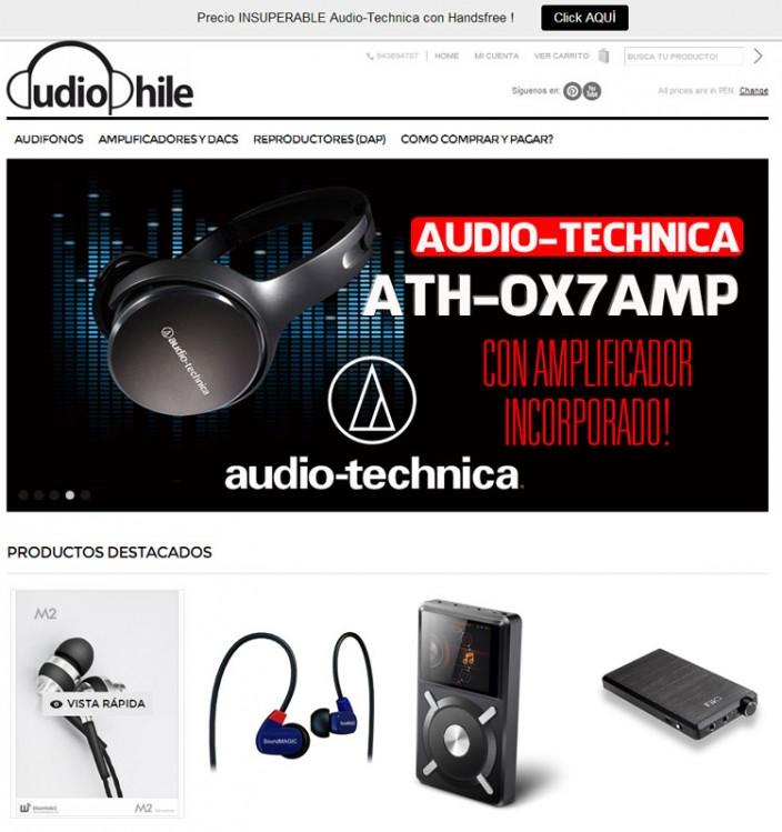 tiendas online peru - audiophile