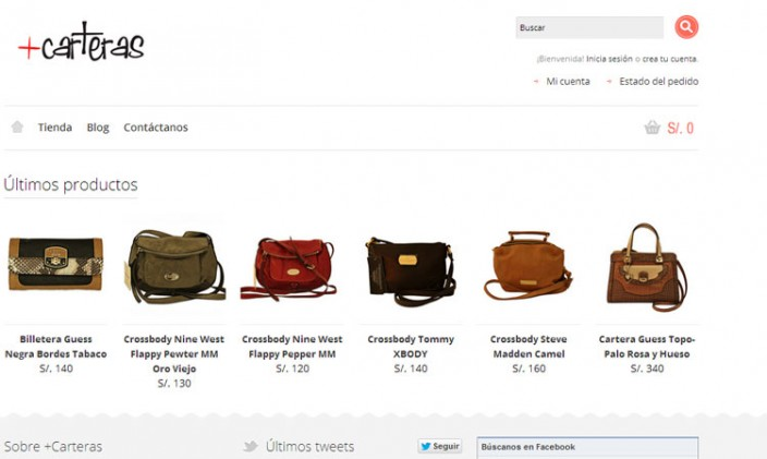 tiendas online peru - carteras