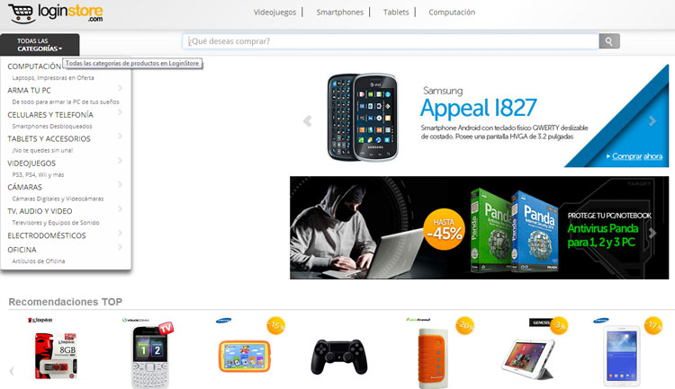 tiendas online peru - loginstore