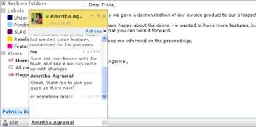 correo corporativo chat