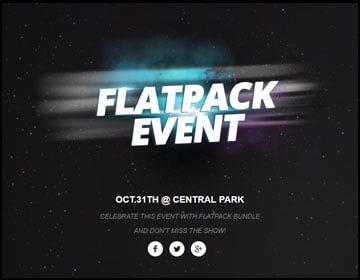 ejemplo de página web de fiesta