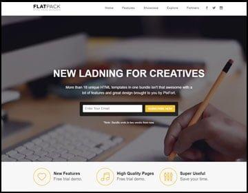 ejemplo de página web para creativos