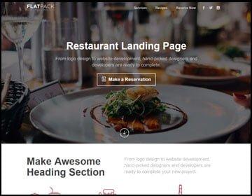 ejemplo de páginas web de restaurant