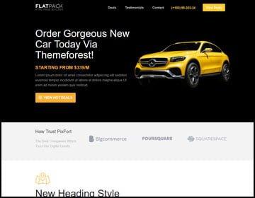 ejemplo de páginas web de vehículos