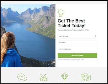 ejemplo de página web de viajes
