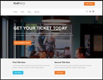 ejemplo de página web de evento