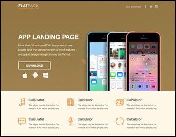 ejemplo de página web app