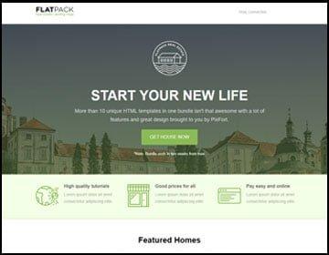 ejemplo de página web real state