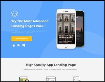 ejemplos de páginas web de app