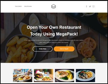 ejemplo de página web de restaurant