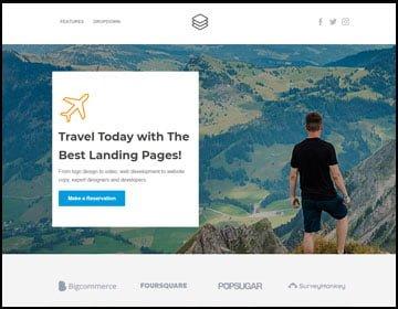 ejemplos de páginas web de viajes