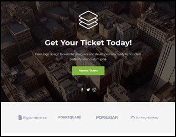 ejemplo de páginas web de eventos