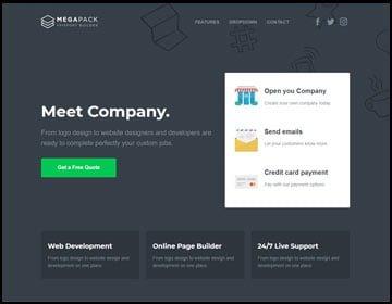 ejemplo de páginas web de una compañía