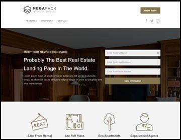 ejemplo de páginas web real state