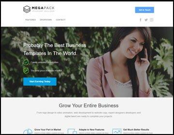 ejemplo de página web de negocios