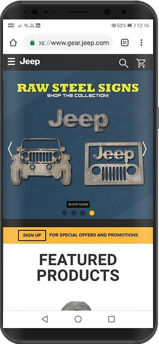 tienda virtual magento jeep